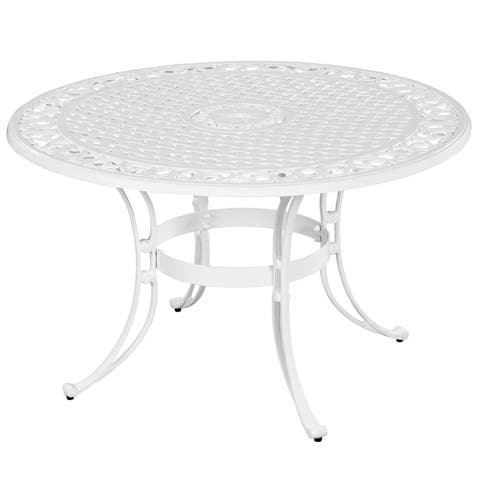 """Biscayne 48-inch White Finish Round Dining Table by Home Styles - 29""""h x 48""""d"""