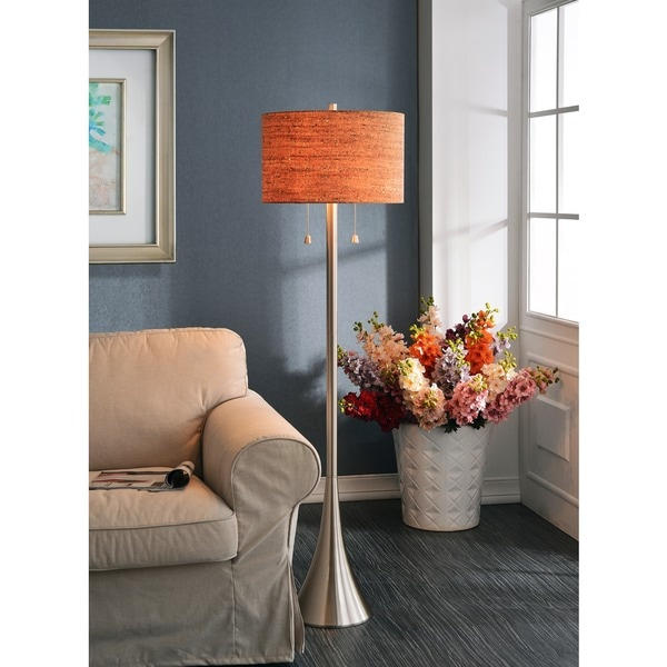 Strick & Bolton Laurindo Brushed Steel 58-inch Floor Lamp - Free ...