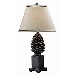 Whitford Aged Bronze Pinecone Table Lamp