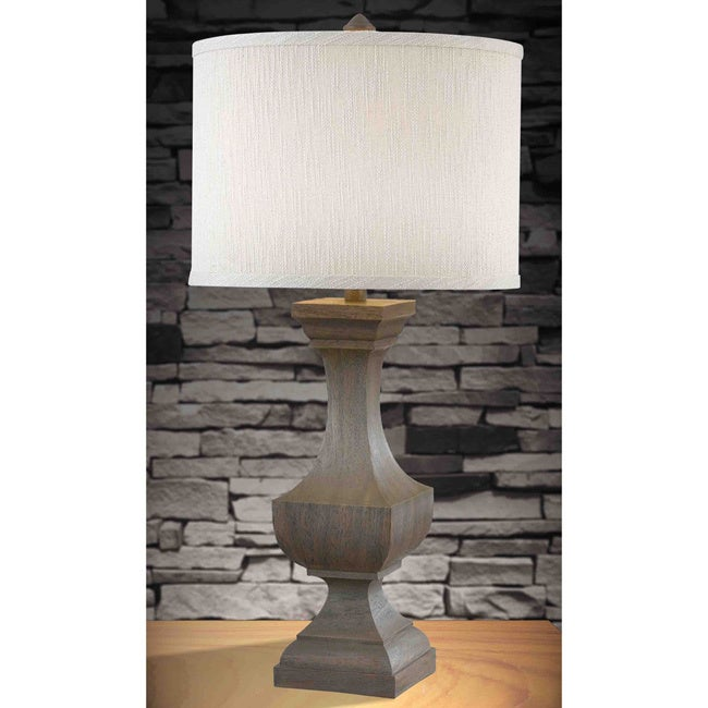 Design Craft Thal 32-inch Driftwood Finish Table Lamp (Th...
