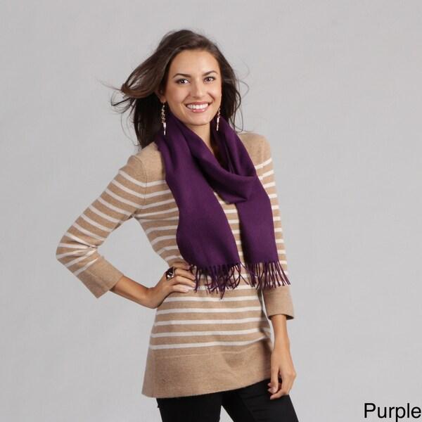Portolano Women's Fringed Cashmere-blend Scarf