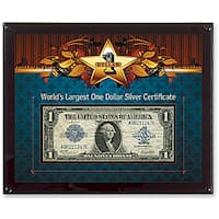 American Coin Treasures World's Largest Silver Certificate