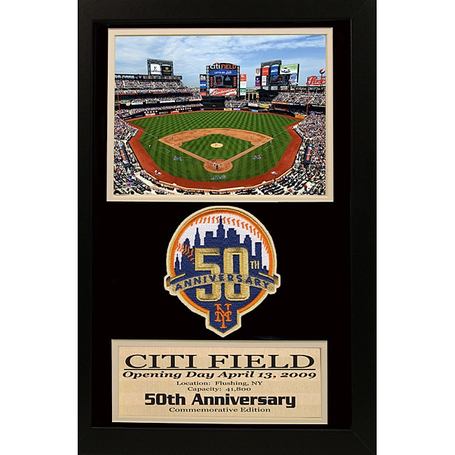 New York Mets '50th Anniversary' Patch Frame