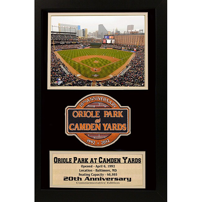 Baltimore Orioles Oriole Park '20th Anniversary' Patch Frame