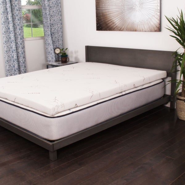 topper bedding overstock visco bath inch memory product foam comfort ultimate touch mattress of
