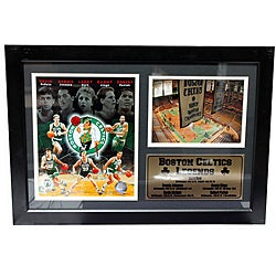 Boston Celtics Legends Photo Stat Frame (12 x 18)