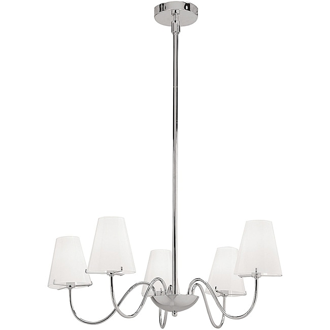 Vienna Chrome 5-light Chandelier - Thumbnail 0