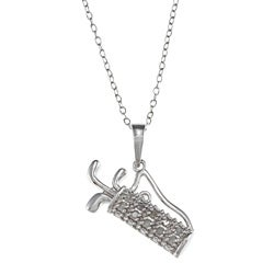 Sterling Silver 1/10ct TDW Diamond Golf Bag Necklace (J-K, I3)