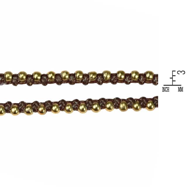 Triple Wrap Mini Beads Cotton Rope Bracelet