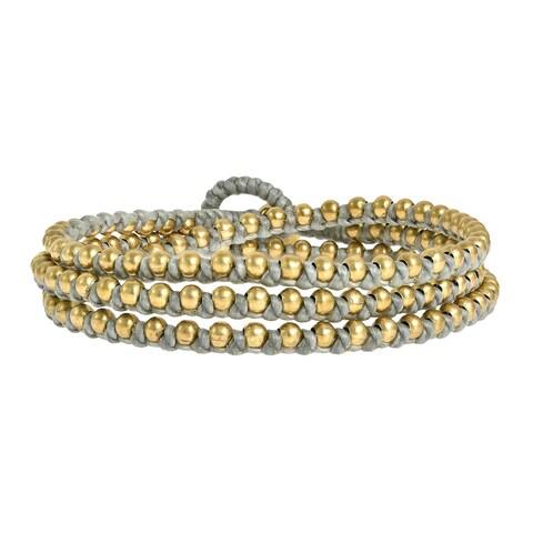 Handmade Triple Wrap Mini Beads Cotton Rope Bracelet (Thailand)