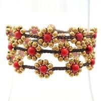 Handmade Sweet Flower Brass Beads Bracelet (Thailand)