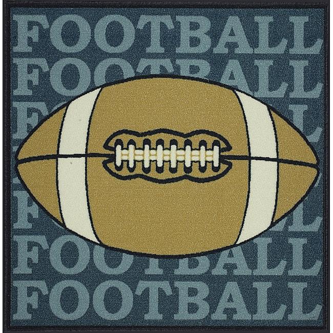 Somette Tufted Football Rug (3' x 3')