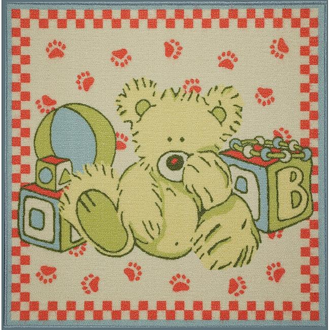 Somette Tufted Teddy Bear Rug (3' x 3')