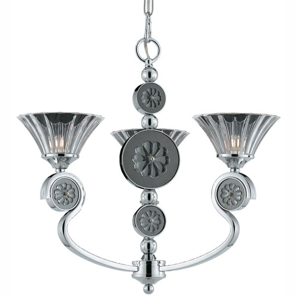 Triarch International Medallion Plated Chrome 3-light Chandelier