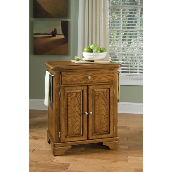 Premium Oak Cuisine Cart with Wood Top