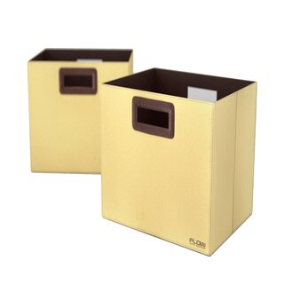 Flow Wall Decor Jumbo Collapsible Beige Storage Bins (Set of 2)