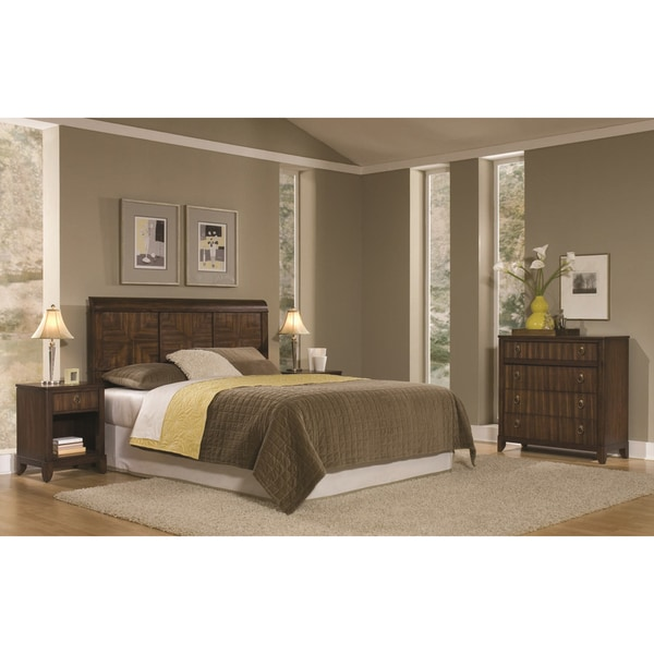 Paris Mahogany Queen/Full Headboard Night Stand and Chest 3-piece Set