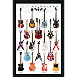 Framed Art Print Guitar Heaven 26 x 38-inch
