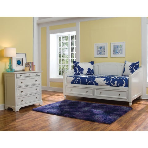 Naples White Daybed and Chest by Home Styles