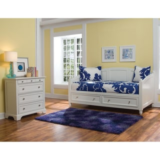 Home Styles Naples White Daybed and Chest