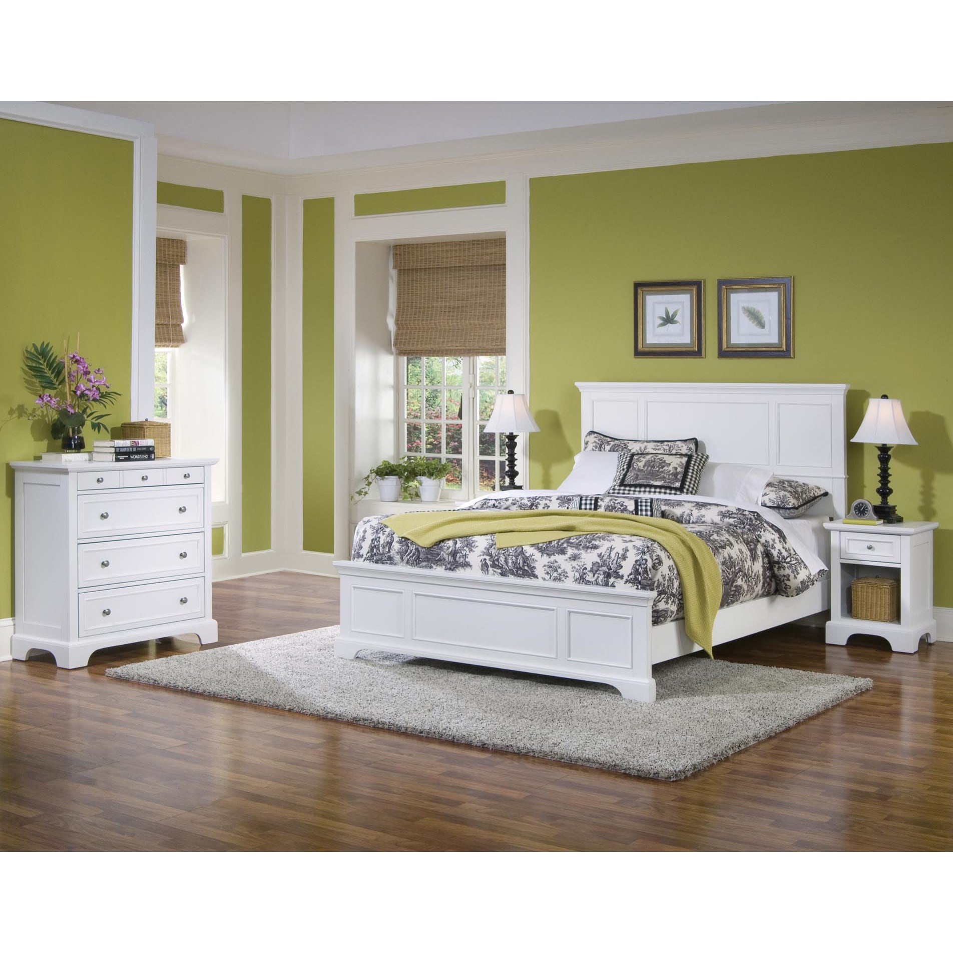 Shop Naples Queen Bed, Nightstand, and Chest Bedroom Set by Home ...