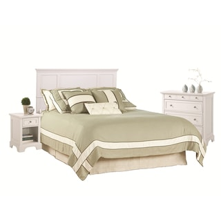 Home Styles Naples Queen/Full White Headboard Night Stand and Chest Set