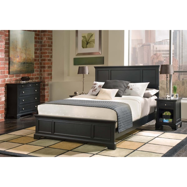 Bedford Queen Bed Night Stand and Chest Set by Home Styles