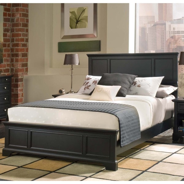 home styles bedford black queen bed - Queen Bed Frame Black