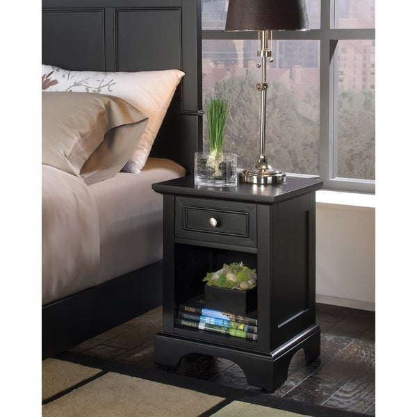 bedford black night stand by home styles free shipping today