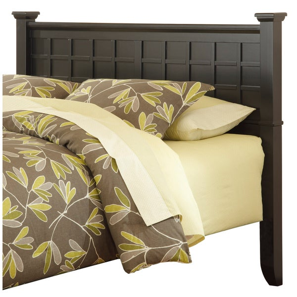 Home Styles Arts and Crafts Black Queen/Full Headboard