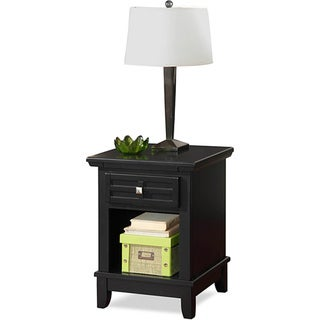 Arts & Crafts Black Night Stand by Home Styles