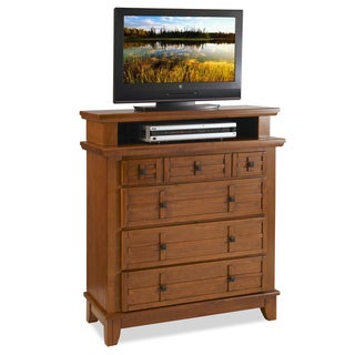 Arts and Crafts Cottage Oak Media Chest by Home Styles