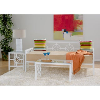 Medallion Marshmallow White Twin Daybed