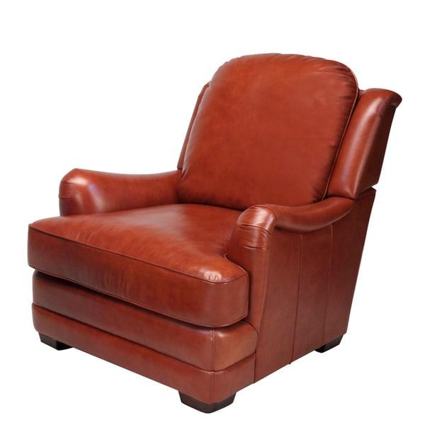 Giorgio Cognac Brown Leather Club Chair