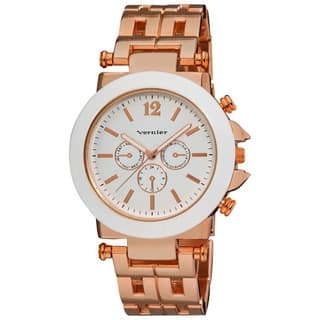 Vernier Women's Faux Chrono Pattern Bracelet Japanese Quartz Watch|https://ak1.ostkcdn.com/images/products/6621026/Vernier-Womens-Faux-Chrono-Pattern-Bracelet-Japanese-Quartz-Watch-P14188325.jpg?impolicy=medium