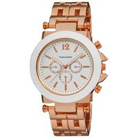 Vernier Women's Faux Chrono Pattern Bracelet Japanese Quartz Watch