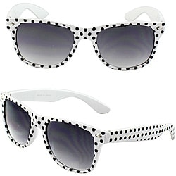 Unisex '200PKWHTPB' Polka Dot Sunglasses