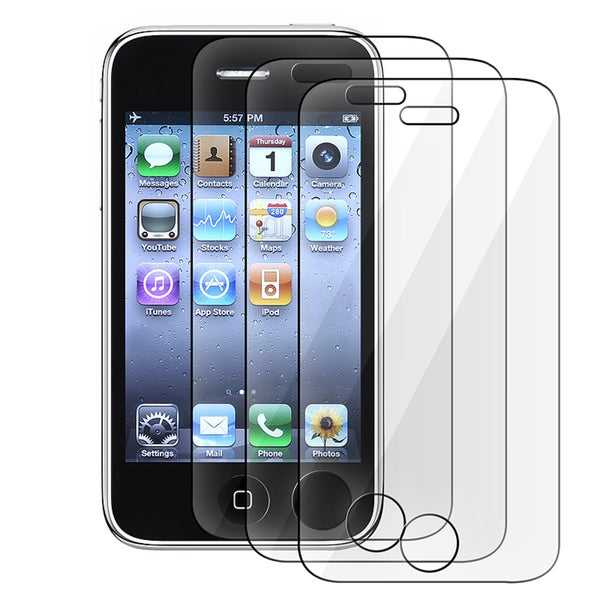 INSTEN Clear Screen Protector for Apple iPhone 3G (Pack of 3)