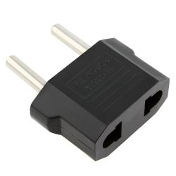 INSTEN Black AU/ US to EU Plug Adapter Travel Charger