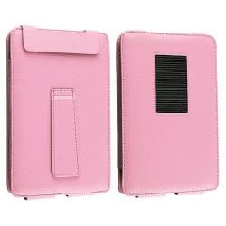 INSTEN Pink Leather Phone Case Cover with Stand for Barnes & Noble Nook Color - Thumbnail 2