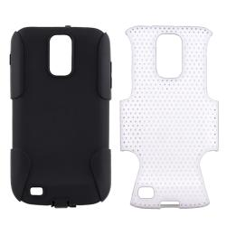 Black/ White Hybrid Case for Samsung Galaxy S II  T989 - Thumbnail 1