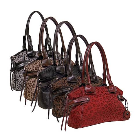Rina Rich 'Leo Helena' Nylon Canvas Satchel
