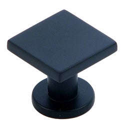 Stone Mill Hardware 'Soho' Matte Black Square Cabinet Knob (Pack of 10)
