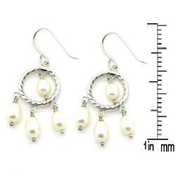 Pearlz Ocean White Freshwater Pearl Dangle Earrings