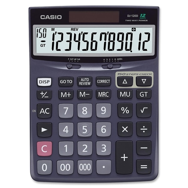 Casio DJ120D Check Correct Calculator