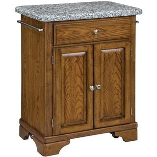 Home Styles Premium Oak with Grey Granite Top Cuisine Cart