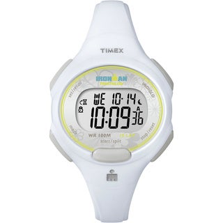 Timex Women's T5K606 Ironman Traditional 10-Lap White Watch
