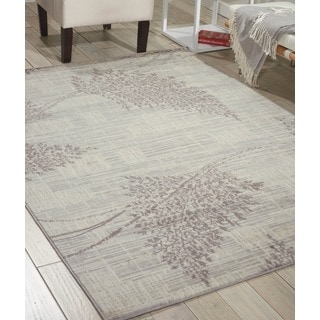 "Nourison Utopia Ivory Abstract Indoor Rug (3'6"" x 5'6"")"