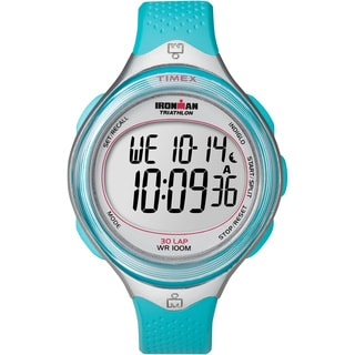 Timex Women's T5K602 Ironman Clear View 30-Lap Caribbean Blue/Silvertone Watch