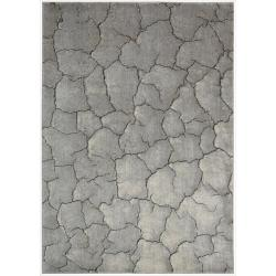 Nourison Utopia Grey Abstract Indoor Rug - 3'6 x 5'6 - Thumbnail 0